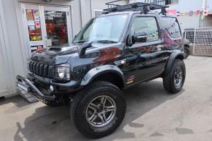 ジムニー ランドベンチャー 4WD リフトアップフルカスタム車 カロッツェリアメモリーナビ フルセグTV バックカメラ