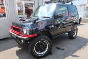 ジムニー ランドベンチャー 4WD リフトアップフルカスタム車 カロッツェリアメモリーナビ フルセグTV